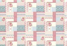 Diario VINTAGE Wallpaper 255170 Rasch Textil Patchwork rojo verde lima Azul