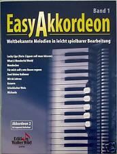 Akkordeon Noten : Easy Akkordeon Band 1 leicht - leMittel Weltbekannte Melodien