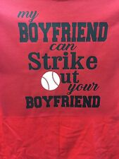 Baseball Shirt Girlfriend Or Mom T-Shirt Personalized New Number Name Strike Out