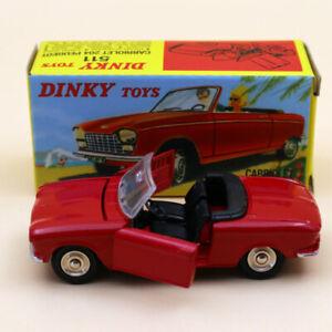 Atlas Dinky Toys 511 Cabriolet 204 Peugeot Red 1:43 Diecast models car