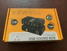 Sewell SoundBox USB External Sound Card 7.1 Audio DAC Digital Optical SPDIF