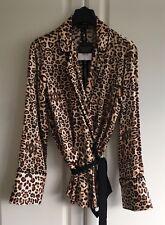 Topshop Petite Size 8 Leopard Print Pyjama Style Blouse BNWT RRP £39