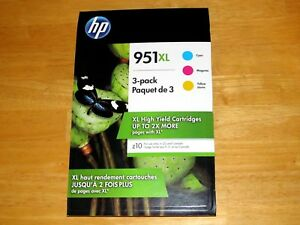 HP 951 XL (Cyan, Magenta, Yellow ink Cartridges *NEW Genuine)