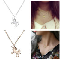 Women Girl Fashion Unicorn Necklace Pendant Clavicle Chain Jewelry Friends Gifts