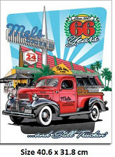 Mel's Diner 66 Years Chev Truck Tin Sign 1924  Large Variety - Post Discounts