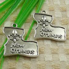 90pcs tibetan silver New Orleans charms 24x23mm #4617