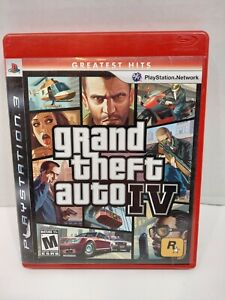 Grand Theft Auto IV Playstation 3 PS3 2008 GTA 4  With Manual/Map Greatest Hits