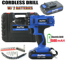HEAVY DUTY CORDLESS COMBI DRILL DRIVER ELECTRIC SCREWDRIVER +TWO LI-ION BATTERY