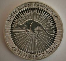 2017 1 oz Silver .9999 Fine Silver Australian Kangaroo $1 Dollar Coin