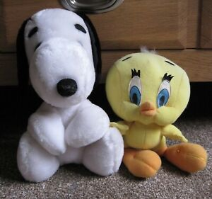 Vintage Snoopy & Tweety Pie Soft Toys Approx. 25cm