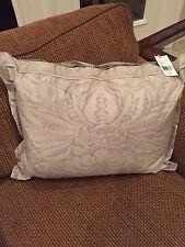 NWT RALPH LAUREN  Fleur Du Roi Gray Silver Throw Pillow 15x20 $115
