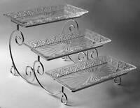 Godinger DUBLIN Metal Buffet Stand & Crystal Trays 8805206