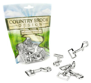 10 - Country Brook Design® 1 Inch Lightweight Swivel Snap Hooks