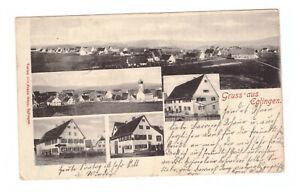 AK Eglingen / Dischingen --Totale mit Bauernhäusern-- um 1902