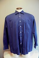 Michael Kors Blue Button Down Dress Shirt 17.5 34/35