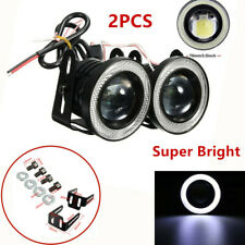 """""""2PCS 3IN 3200LM LED Projector Fog Light Round Amber Angel Eye Halo 50,000 Hours"""