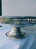 Stunning ART NOUVEAU Pedestal Bowl Alexander Clark Quality Silver Plate