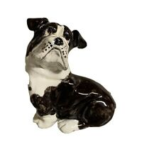 Black & White Dog Figurine Boston Terrier Bulldog