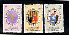 BRUNEI #268-270  1981  ROYAL  WEDDING  MINT  VF NH  O.G  a