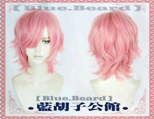 Anime Yarichin Bitch-bu Ayato Yuri Pink Short Cosplay Costume Party Hair Wig