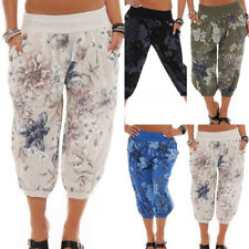 Ladies Harem Pants Trousers Women Baggy Boho Hareem Leggings Shorts Plus Size