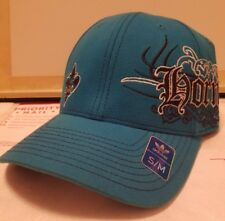 NEW ORLEANS HORNETS ADIDAS BASKETBALL HAT MENS CAP TEAL FITTED SMALL MEDIUM S M