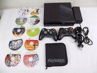 Xbox 360 Console Bundle Console + 2x Controller + 10x Kids Children Games