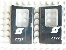 LEGO Eisenbahn: ÖBB-Logo  2 schwarze Türen links+rechts mit Sticker 7727 für Lok