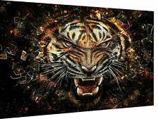 Leinwand Wandbilder Tiger Bilder MagicCanvasArt- Hochwertiger Kunstdruck