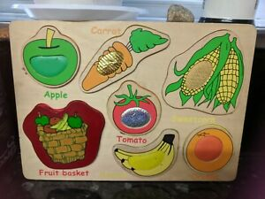 Easy 7 piece basket of fruit jigsaw puzzle