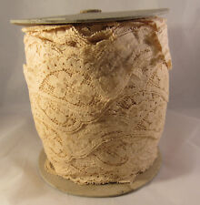 """Vintage Spool Nude Taupe Lace Paisley Scallop 2"""" Trim"""