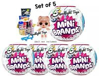 5 Balls ZURU 5 Surprise MINI BRANDS Authentic Miniatures For Dolls LOL Series 1