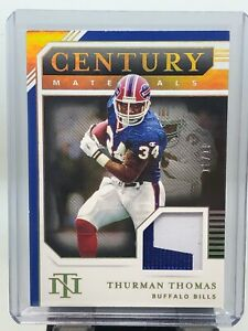 2020 National Treasures Thurman Thomas Century Materials Patch 10/10!