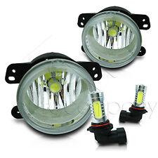 07-11 Jeep Wrangeler Replacement Fog Light w/High Power COB LED Projector Bulbs