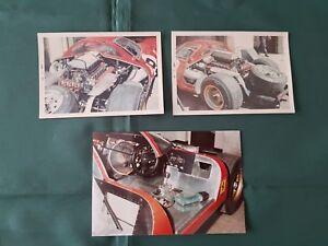 Rare 1000 km Monza photos 1967 Rodriguez Guichet NART Ferrari 412 P Chinetti N°9