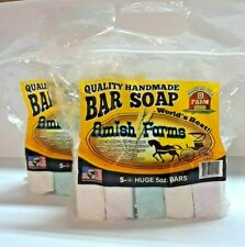 All Natural Amish Farm Bar Soap two 5-Packs Cold Process Old-Fashioned Homemade