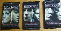 BATTLESTAR GALACTICA CCG COLLECTIBLE CardGame BETRAYAL SEALED BOOSTER PACK 3 lot