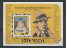 GRENADA 1982 DIANA 21st O/P ROYAL BABY $5 MINIATURE SHEET MNH