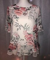 adrianne vittadini Top, Floral Size M