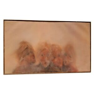 Sergio Gonzalez Oil Painting Faces in the Mist 1980