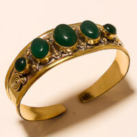 New Year Sale Offer 925 Tibetan Brass Green Onyx Cuff Jewellery