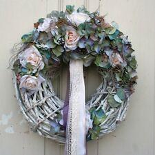 FRI-Collection Türkranz Kranz Hortensien Naturmaterialien lila Shabby Chic 40 cm