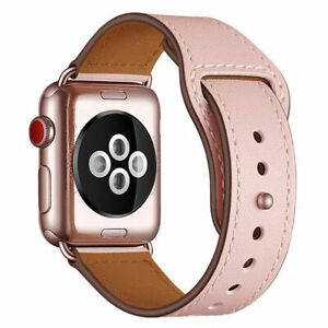 Genuine Leather Band Strap For AppleWatch Series 6 5 4 3 SE iWatch 38/42/40/44mm