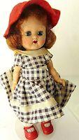 Vintage 1950s Cosmopolitan Ginger Red Head Walker Doll Orig Black White Clothes