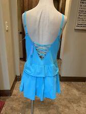 Bleu Rod Beattie 1 Pc Bathing Suit Blue Strappy 16W NWT Retail $120 (110)