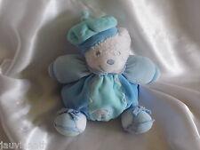 Doudou ours bleu turquoise, lagon, chapeau, poisson, Kaloo