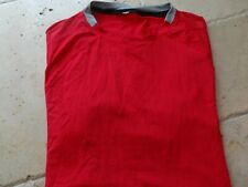 lululemon M mens workout shirt red