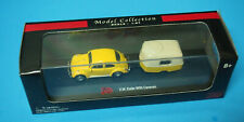 1:87 VW KAFER WITH CARAVAN BY MALIBU INTERNATIONAL BOX YELLOW