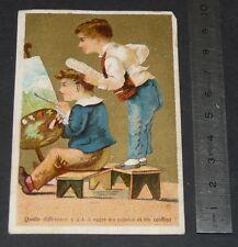 CHROMO 1880-1899 AUX DAMES FRANCAISES FLISSEAU TOURS DIFFERENCE PEINTRE COIFFEUR