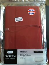 Genuine PU Leather case for Xperia tablet S Red